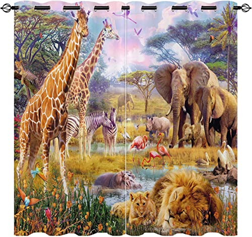 EiiChuang Animal Curtains Blackout Review