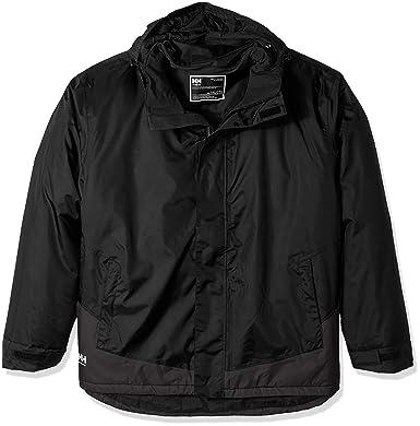 2ed344c5 Helly Hansen Work Wear Men's Leknes Insulated Tech Big and Tall Jacket,  Black/Ebony