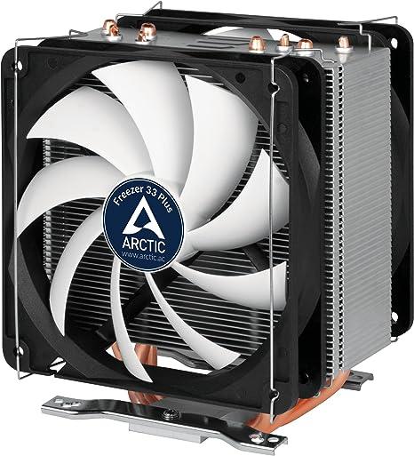 ARCTIC Freezer 33 Plus - Enfriador de CPU Semipasivo, Ventilador ...