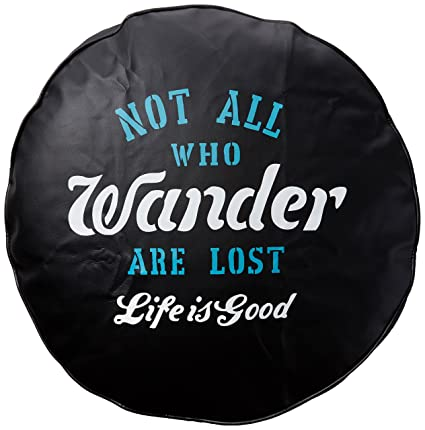 Amazon Com Life Is Good Tire Cover Wander Tire Cover Night Black
