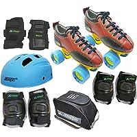 Jaspo Hail Stone Pro Shoe Skate Combo(Shoe Skates+ Helmet+Knee+Elbow+Wrist+Bag)