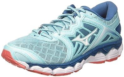 low priced e1a4e c07a5 Mizuno Wave Sky Wos, Chaussures de Running Femme, Multicolore  (Aquasplash White