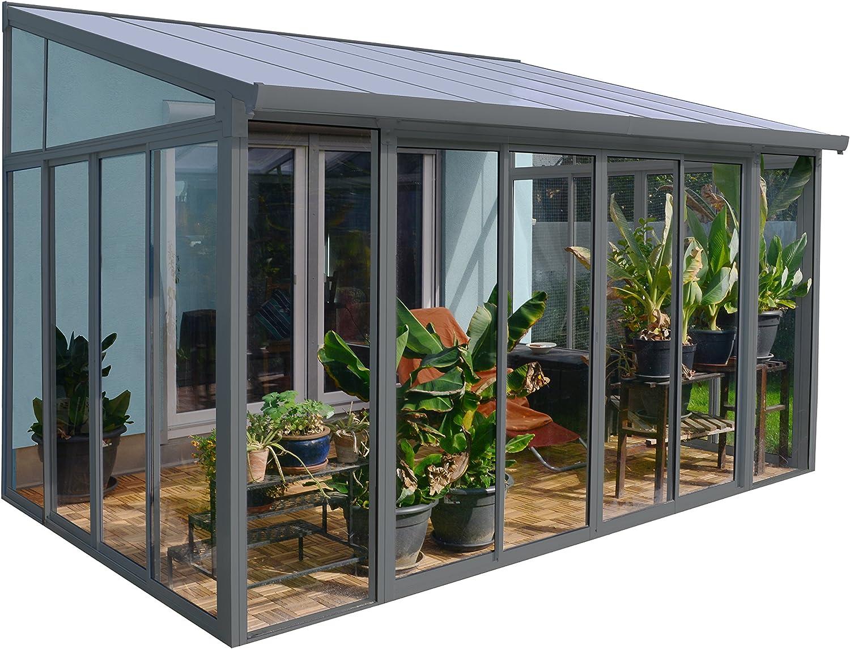 Palram Veranda San Remo para jardín de Invierno, Gris, 295 x 425 x 310: Amazon.es: Jardín