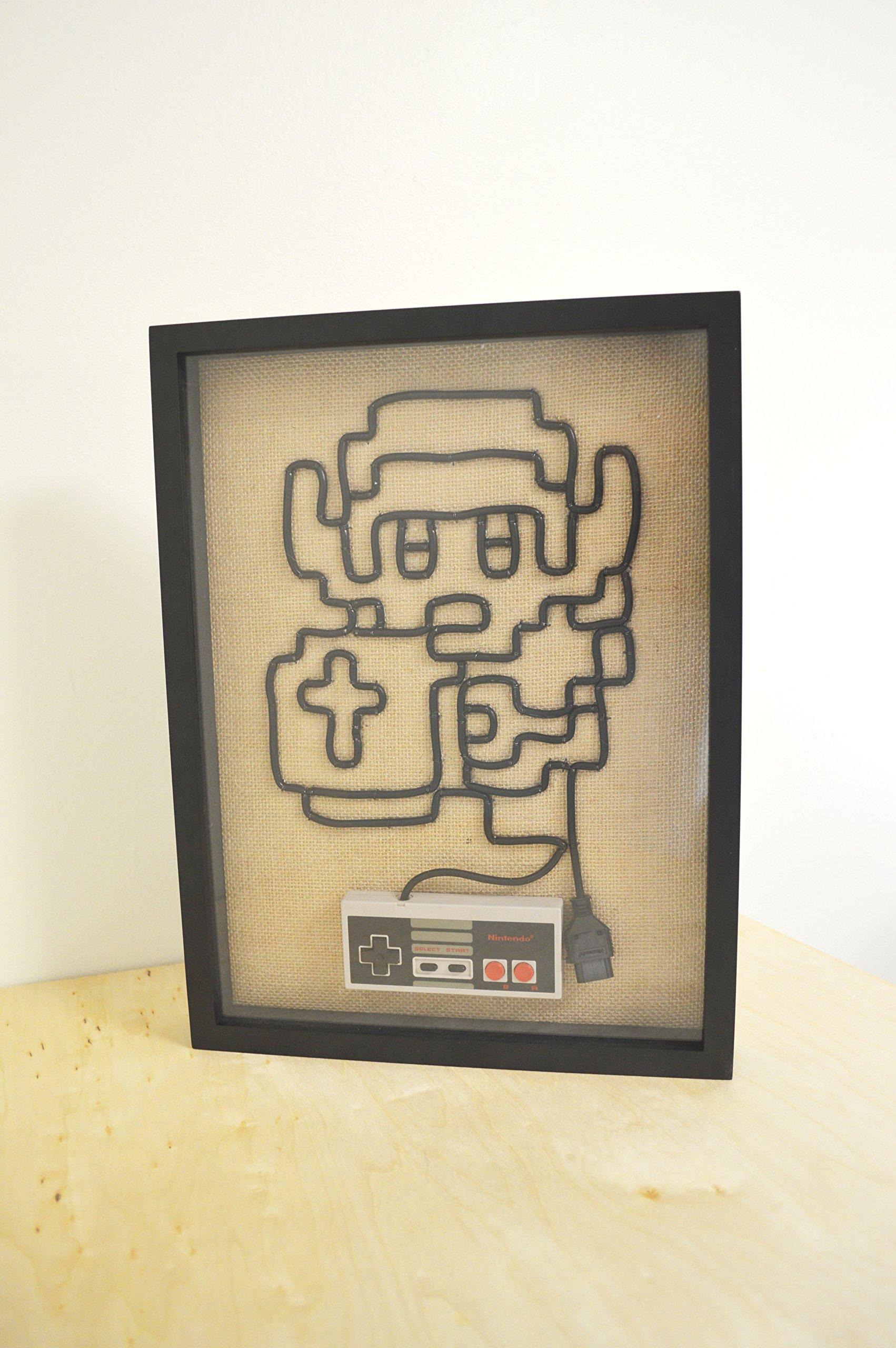 Legend of Zelda Link - Nintendo NES Controller Wire Wall Art Shadow Box