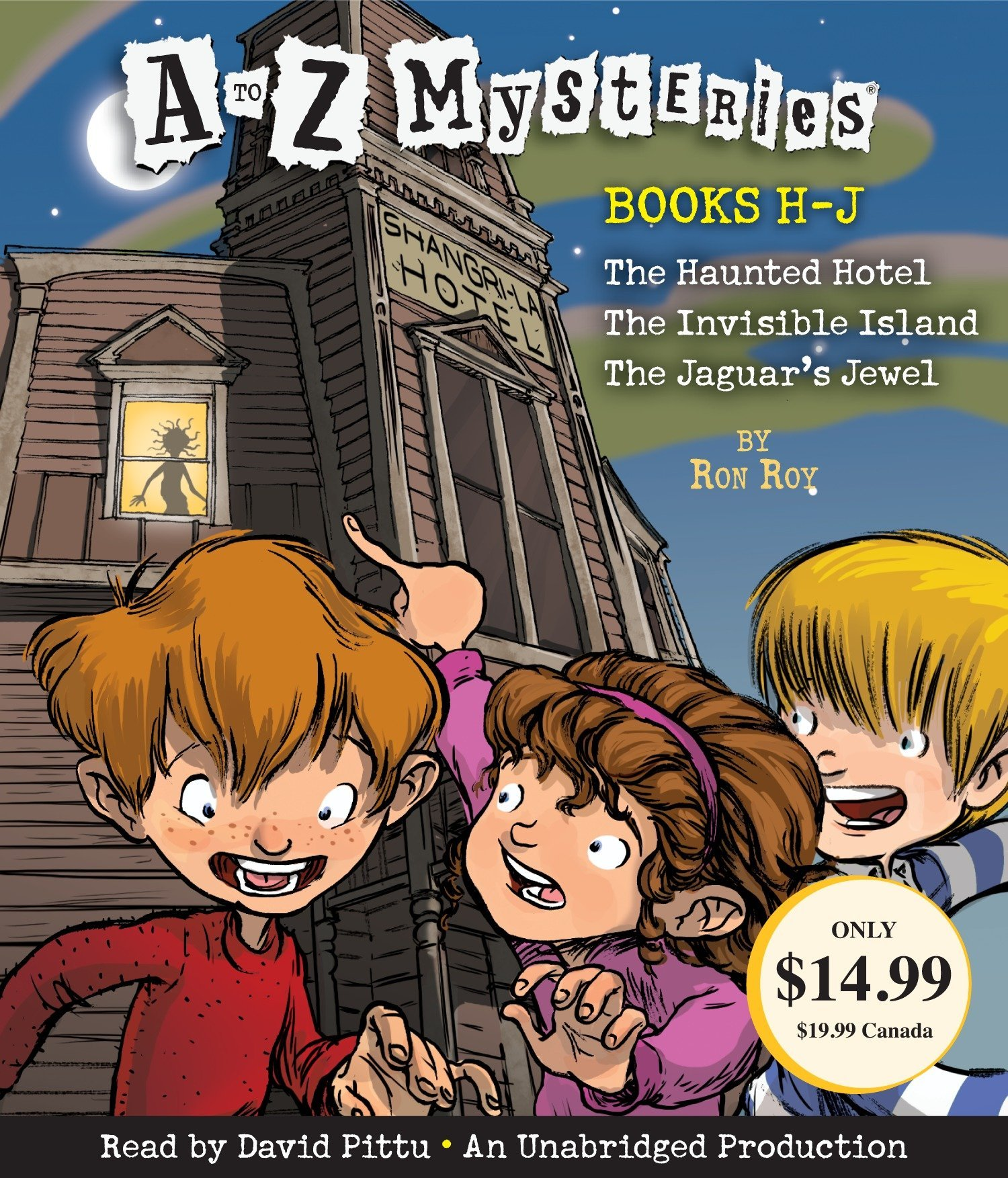 A to Z Mysteries: Books H-J: The Haunted Hotel; The Invisible Island; The Jaguar's Jewel by Listening Library (Audio) (Image #1)