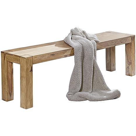 FineBuy- Banco para comedor de madera maciza: Amazon.es: Hogar