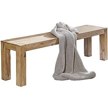 Finebuy Esszimmer Sitzbank Massiv Holz Akazie 180 X 45 X 35 Cm