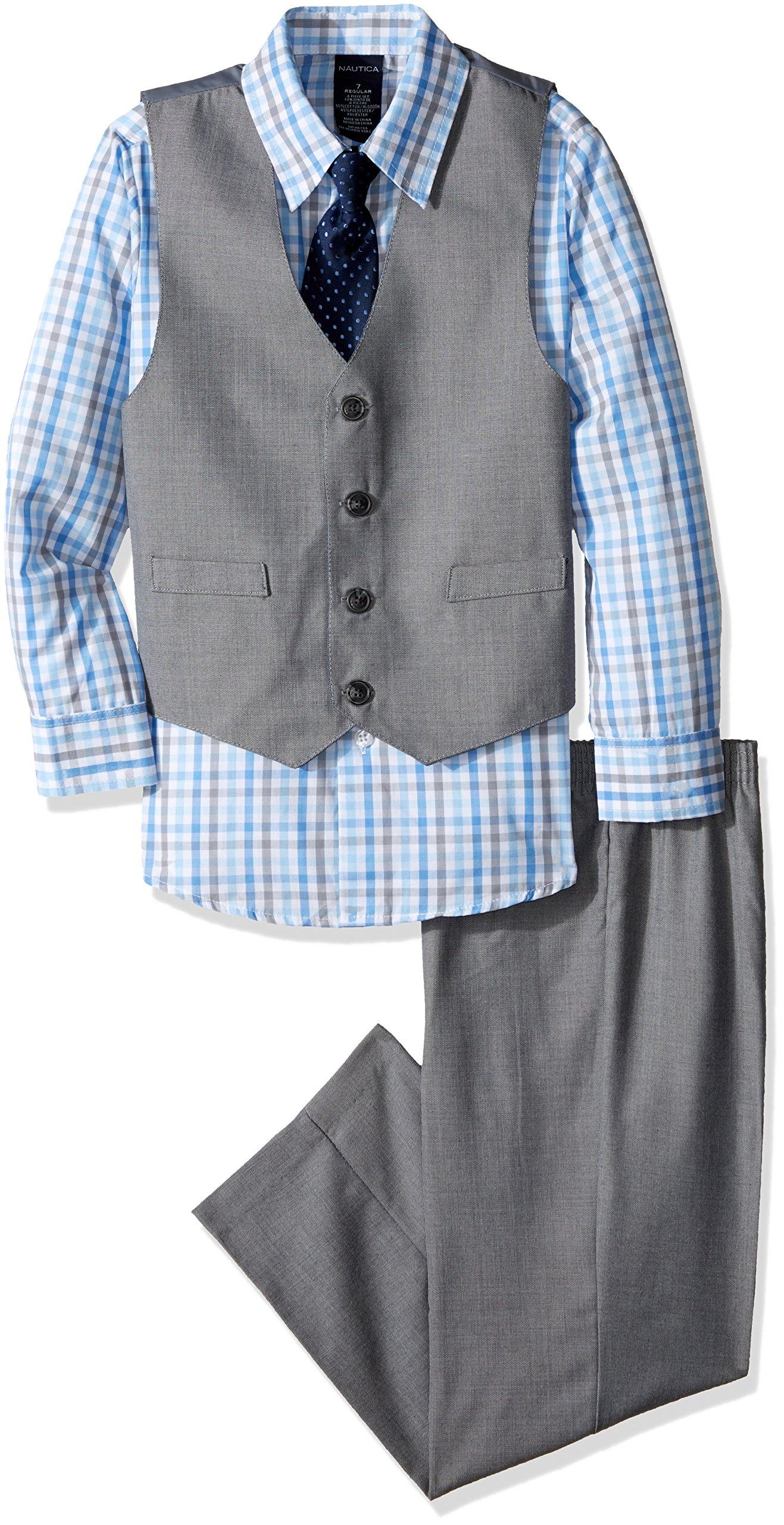 Nautica Dressy Vest Set, Light Grey, 2T/2