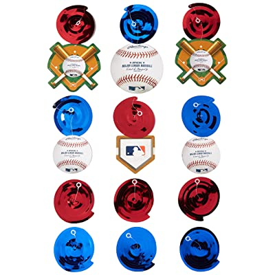 """Rawlings Baseball Collection"" Swirl Decorations, Party Decoration: Toys & Games"