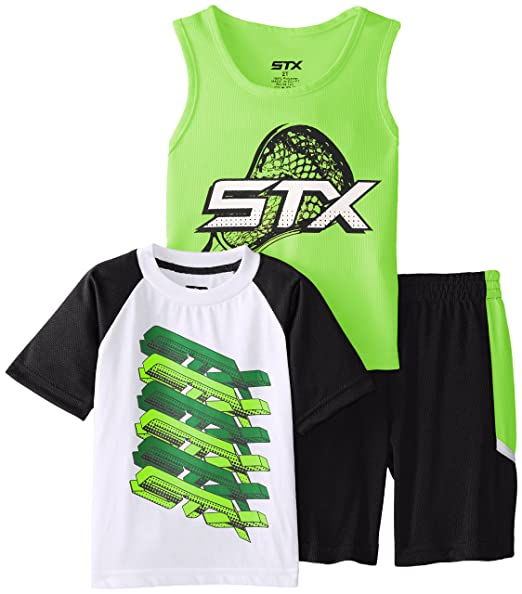 Amazon.com: STX Little and Big Boys\' 3 Piece Performance T-Shirt ...