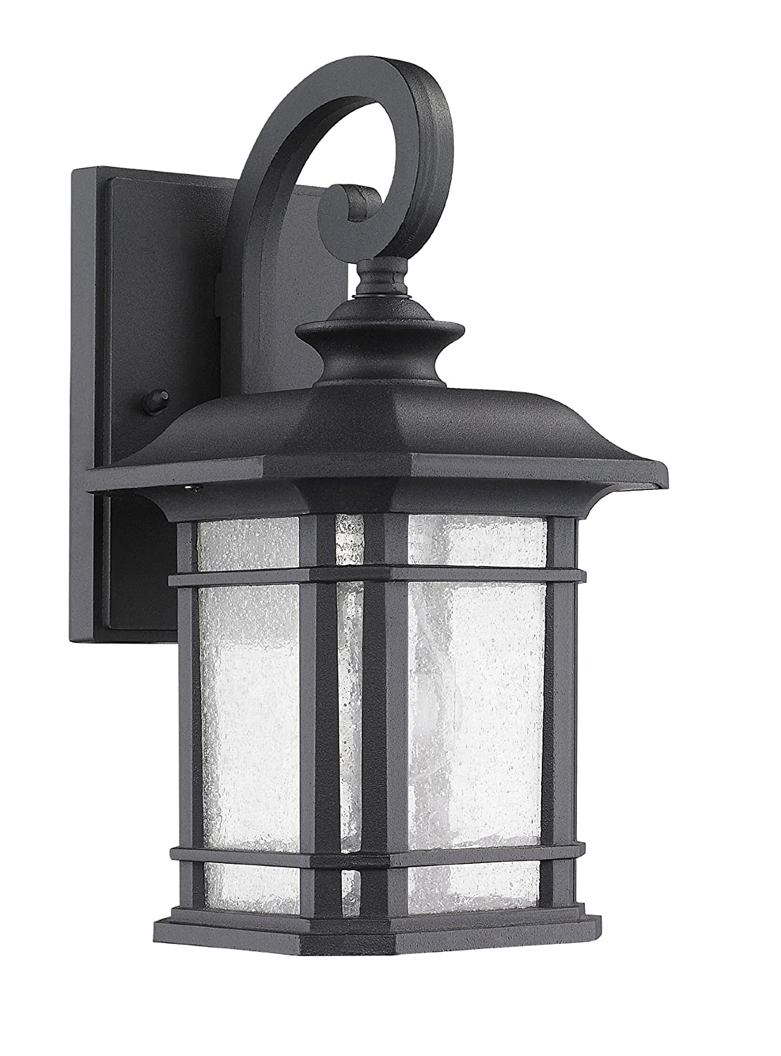 Chloe lighting ch22021bk17 od1franklin transitional 1 light black outdoor wall sconce 17 height home outdoor electric lighting amazon com