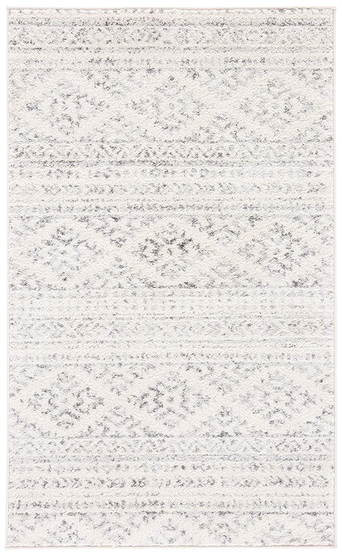 Safavieh Tulum Collection TUL272A Boho Moroccan Distressed Area Rug 2 x 4 Ivory//Grey