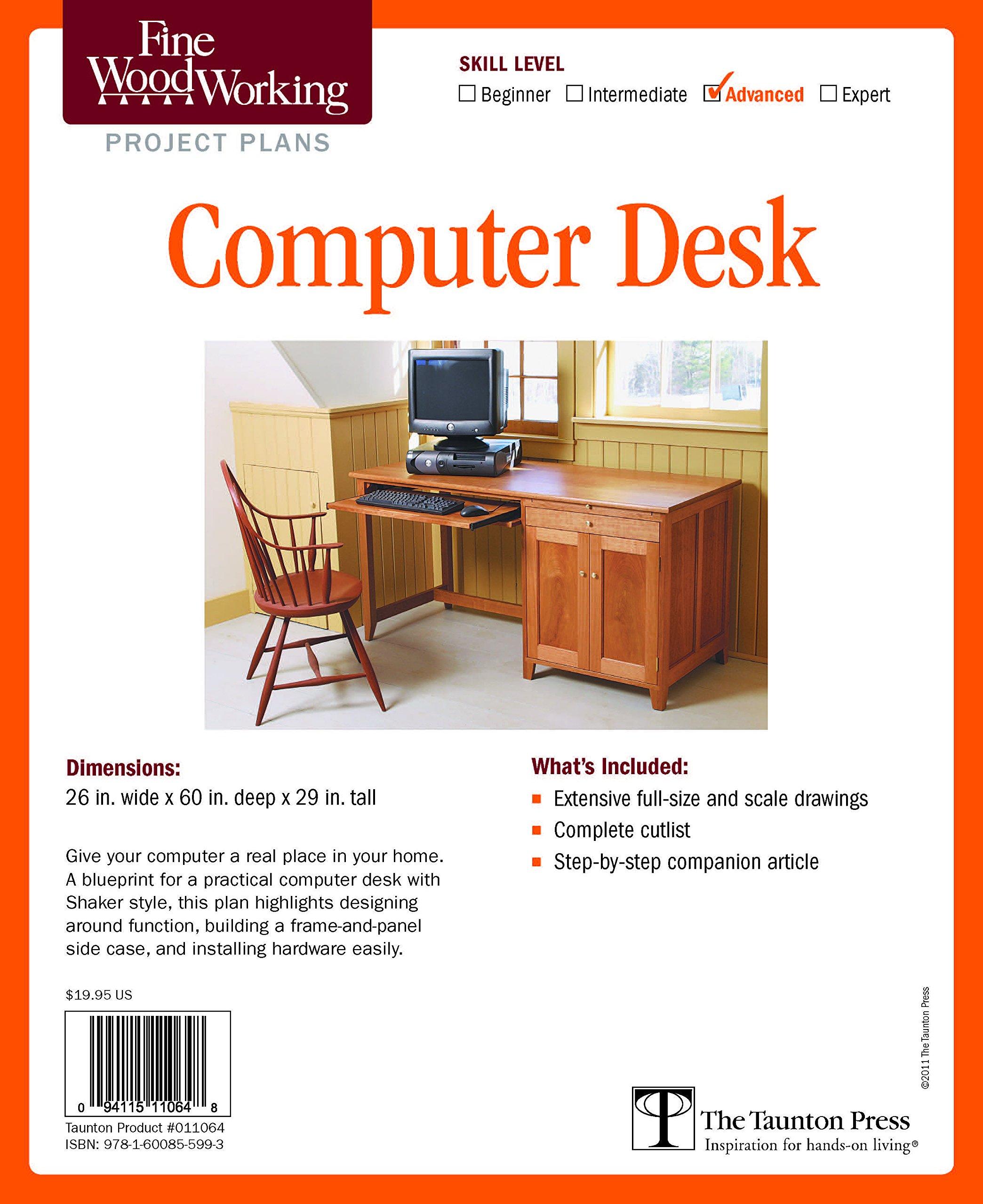 Fine Woodworking S Computer Desk Plan Editors Of Fine Woodworking