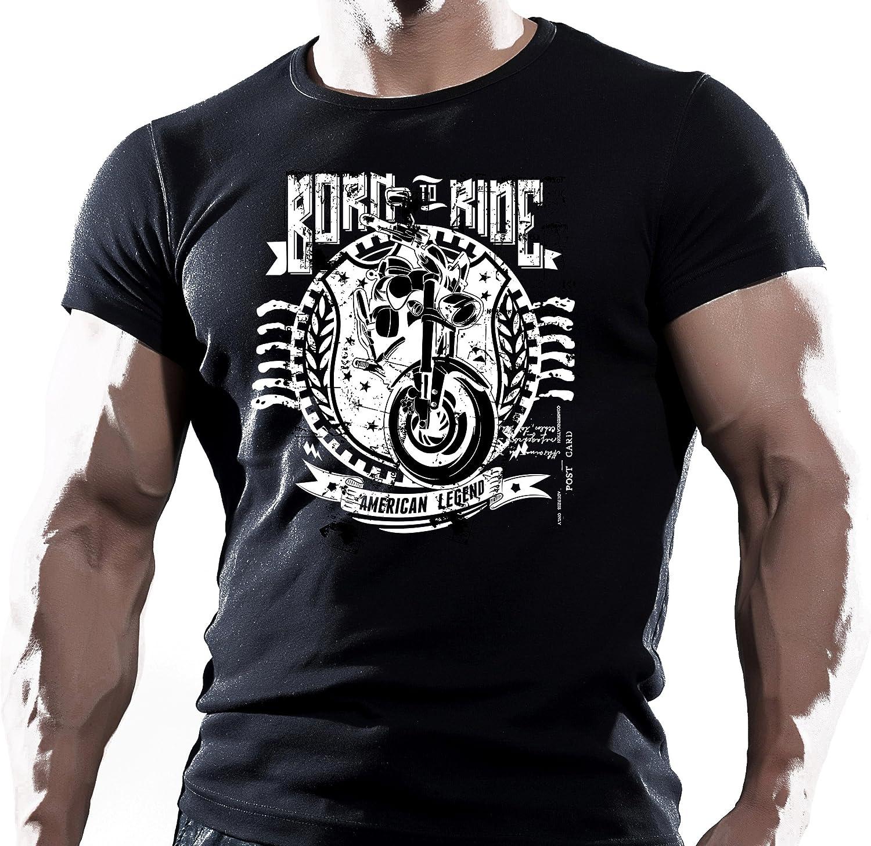 Born To Ride Cotton T-shirt Top Clothing Biker Motorbike Superbike Biker/'s Gift