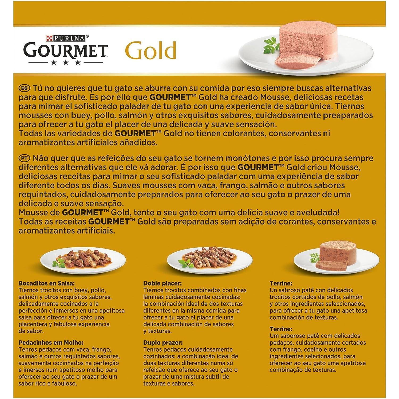 Purina Gourmet Gold Mousse comida para gatos Surtido 12 x [8 x 85 g]