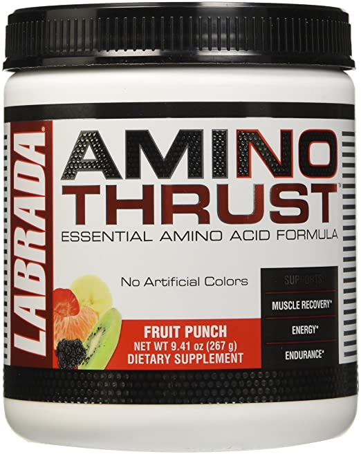 Amazon.com: Labrada Nutrition Amino Thrust Essential Amino Acid V2 Formula, Fruit Punch, 264 Gram: Health & Personal Care