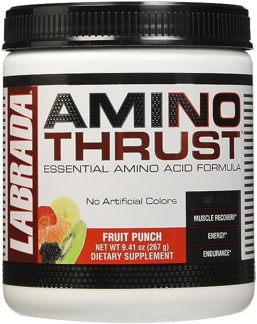 Amazon.com: Labrada Nutrition Amino Thrust Essential Amino Acid V2 Formula, Fruit Punch, 264 Gram: Health & Personal Care