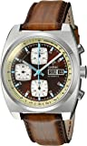 Zodiac Men's 'Seadragon' Swiss Automatic Stainless Steel and Leather Casual Watch, Color:Brown (Model: ZO9913)