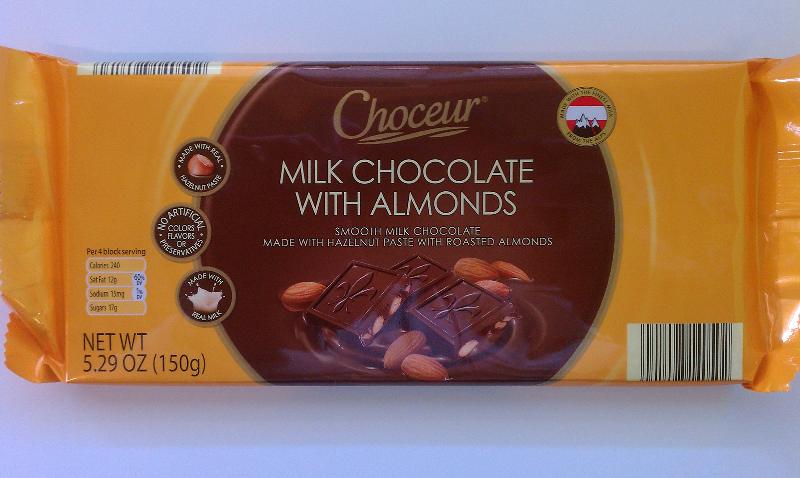 Choceur Milk Chocolate With Almonds 5.29 OZ (2 Pack)