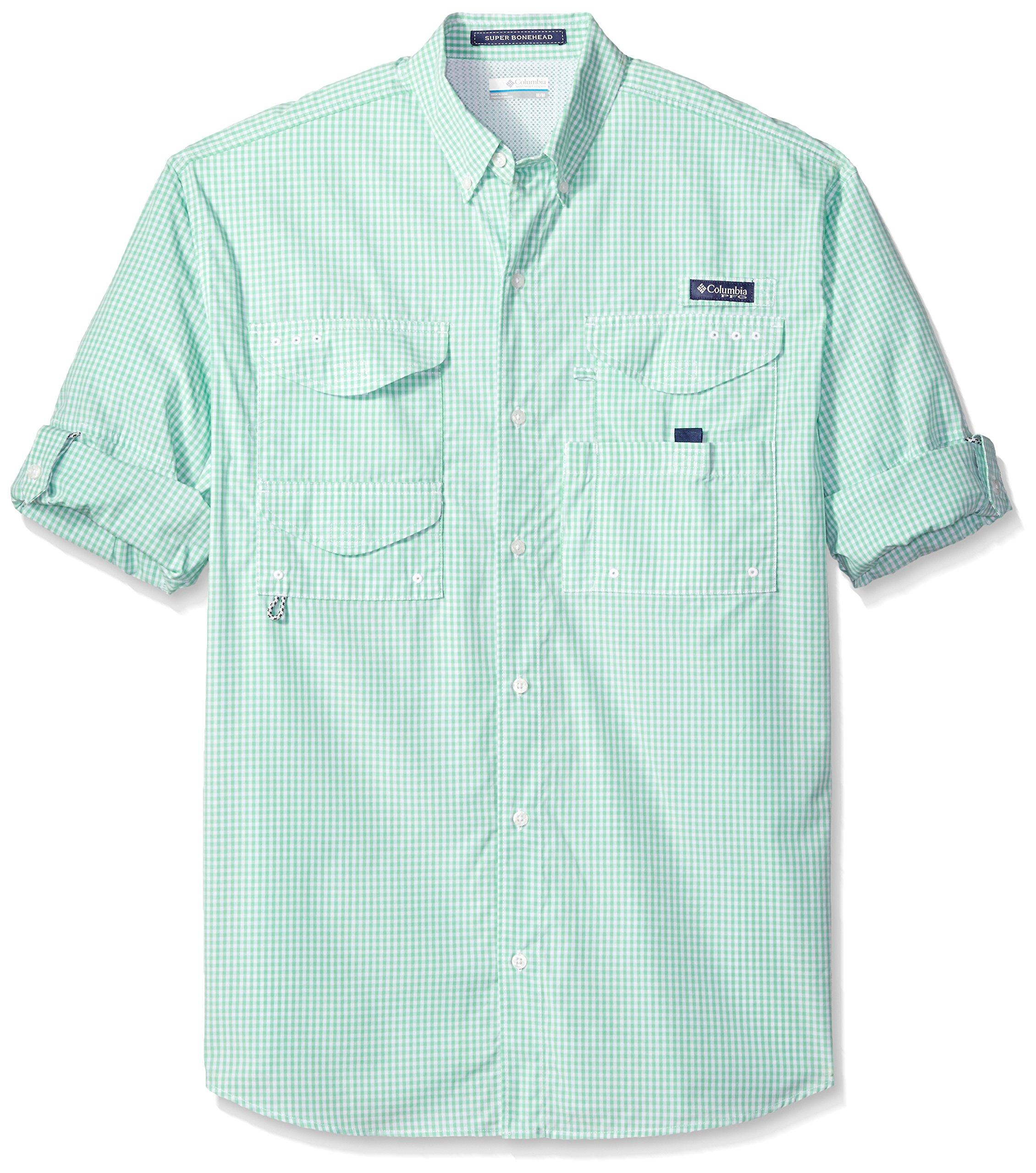 Columbia Men's Super Bonehead Classic Long Sleeve Shirt, Kelp Gingham, Medium by Columbia