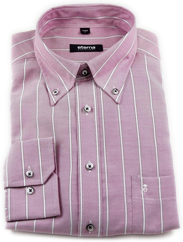 Eterna Classic Fit Blackline Camisa Lila Blanco Rayas Talla ...