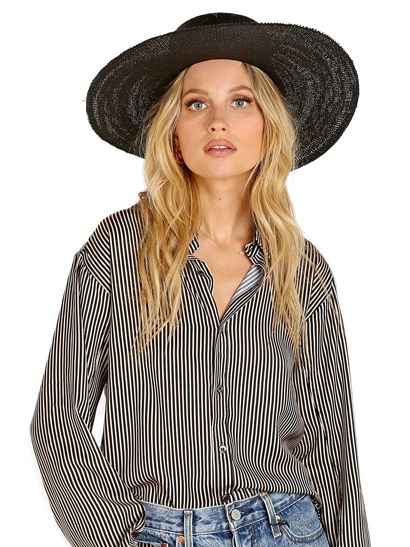 63d9da308 Janessa Leone Women's Suzanne Hat, Black, Small at Amazon Women's ...