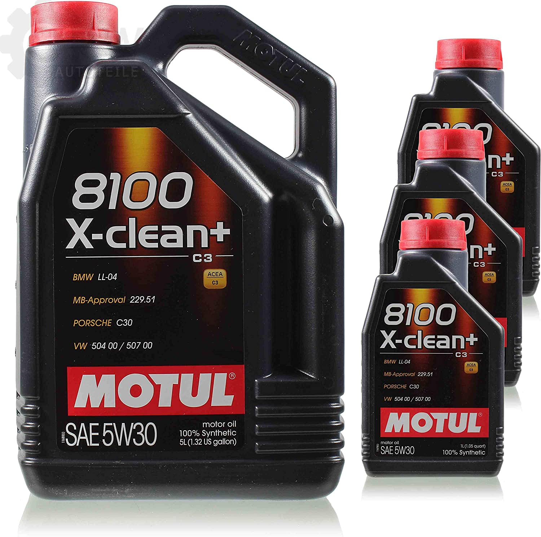 8 Liter Original 106376 Motul 8100 X Clean 5w30 Öl Motoröl Auto