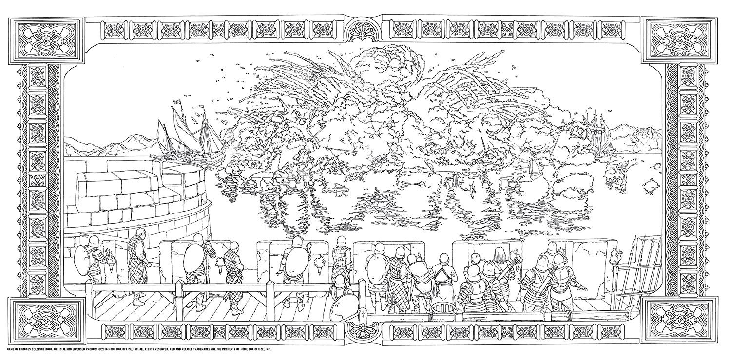Hbo\'s Game of Thrones Coloring Book: Amazon.fr: HBO: Livres anglais ...