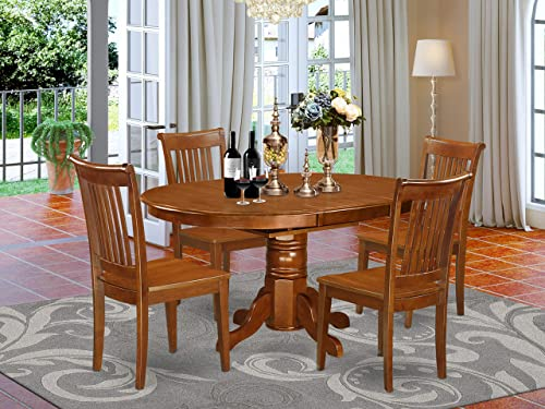 East West Furniture dining room table set 4 Amazing dining chair