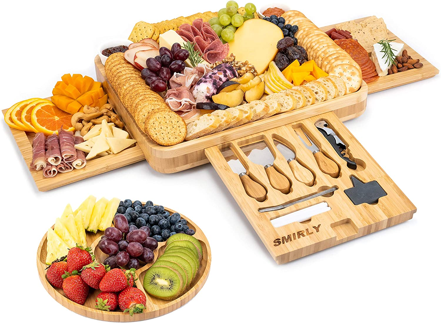 SMIRLY Cheese Board and Knife Regular discount Fort Worth Mall Set: 16 Charcut 2 Inch Wood 13 x