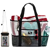 Aloha Sugar Beach Bag - Mesh Beach Bag and Beach Tote Bag
