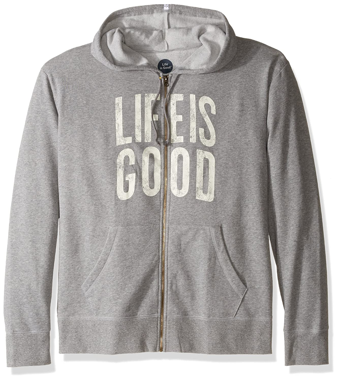 521a5c7cc0a Amazon.com  Life is Good Go-to Zip Hoodie