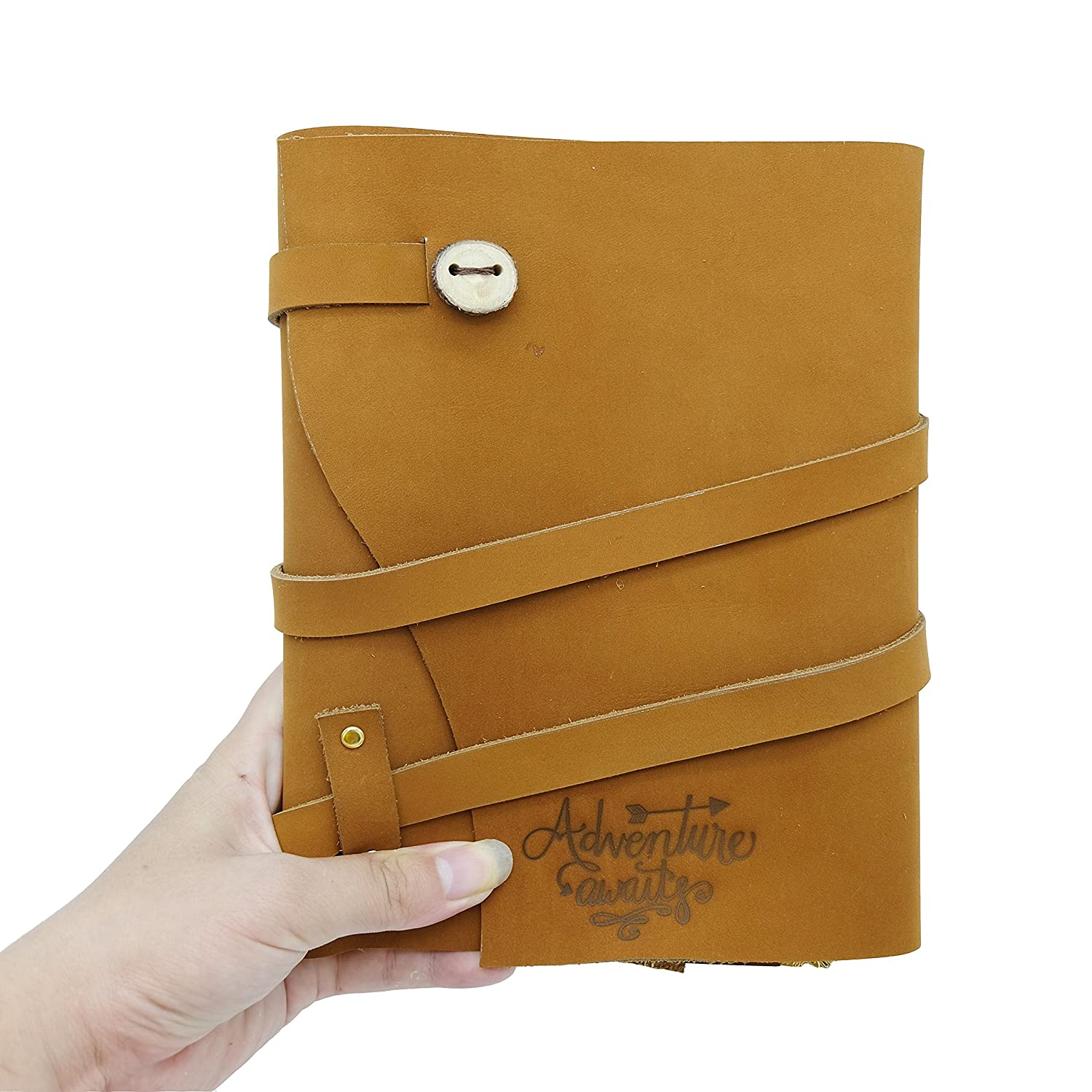 Premium Leather Journal Daily Planner | Monthly Planner | 3 Month Planner | 6 Month Planner | One Page Per Day Planner | 24 Month Planner