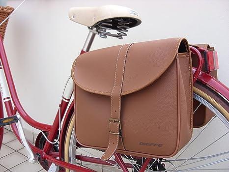 Borsa posteriore per bici bicicletta al portapacchi eco pelle marrone 01041  Dieffe 4c9e93aed15