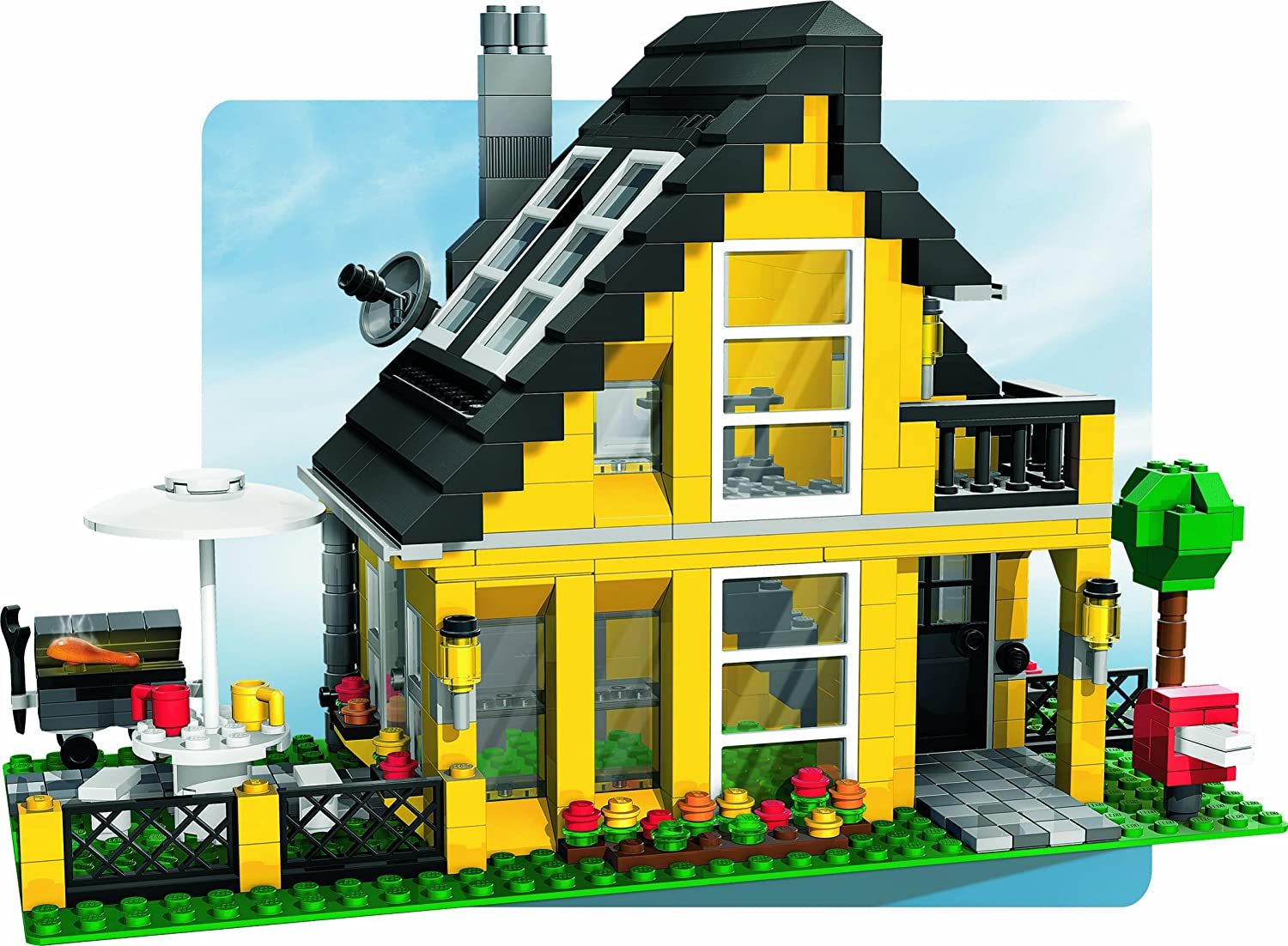 finest lego legoville jeux de la maison de vacances amazonfr jeux et jouets with jeux de maison. Black Bedroom Furniture Sets. Home Design Ideas