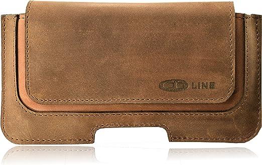 Funda Holster ORLINE Slim Cinturón de Piel para el LG K10 Estuche de Bolsa Funda Horizontal