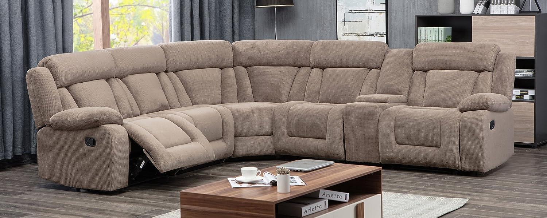Amazon.com: Milton verdes estrellas 8037-tan Esmeralda sofá ...