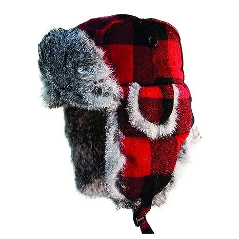 dca3dc6575c Amazon.com : Eskimo Apparel Plaid Alaskan Large Fur Hat : Sports ...