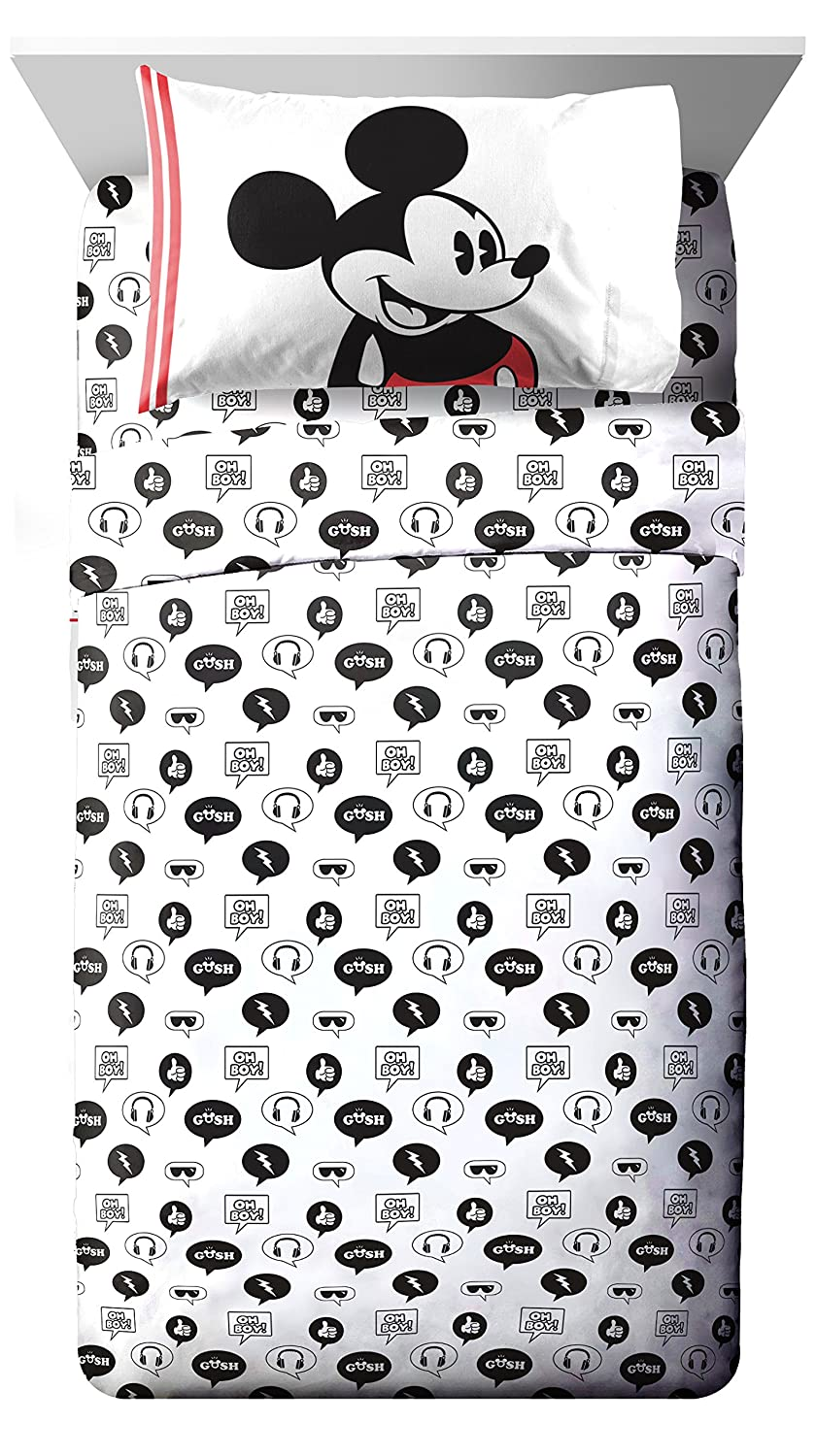 Official Disney Product Super Soft Kids Reversible Bedding Features Mickey Mouse Jay Franco Disney Mickey Mouse Jersey Twin//Full Comforter Fade Resistant Polyester Includes 1 Bonus Sham