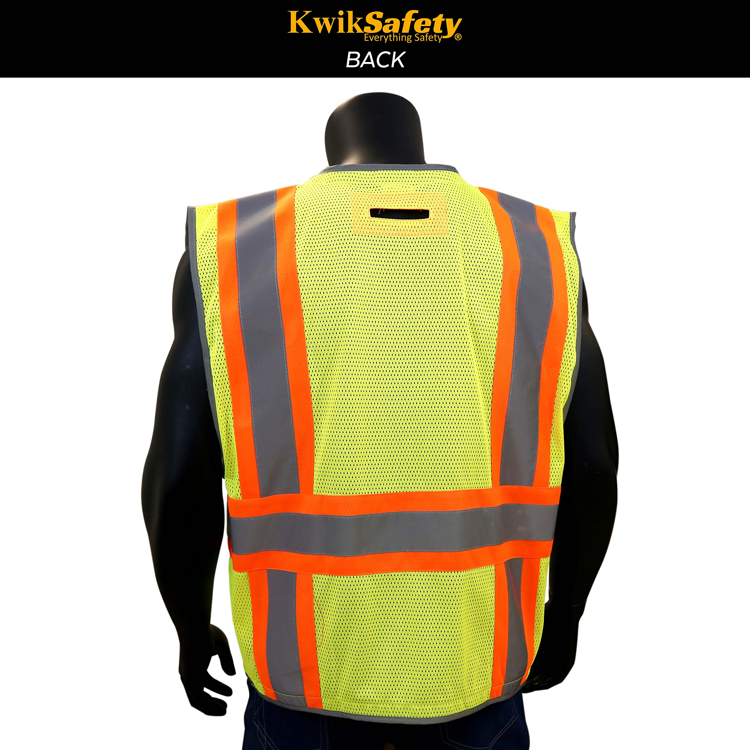 KwikSafety PILOT | Drone Safety Vest | Class 2 ANSI Compliant FAA Licensed | 360° High Visibility Reflective UAG Work Wear | Hi Vis Certified Commercial Pilot Men & Women Regular to Oversized | XL by KwikSafety (Image #2)