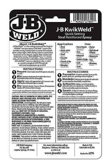 Smart J-b Weld Kwikweld 6 Minute Setting Professional Steel Reinforced Epoxy Adhesive Special Summer Sale Liquid Glues & Cements