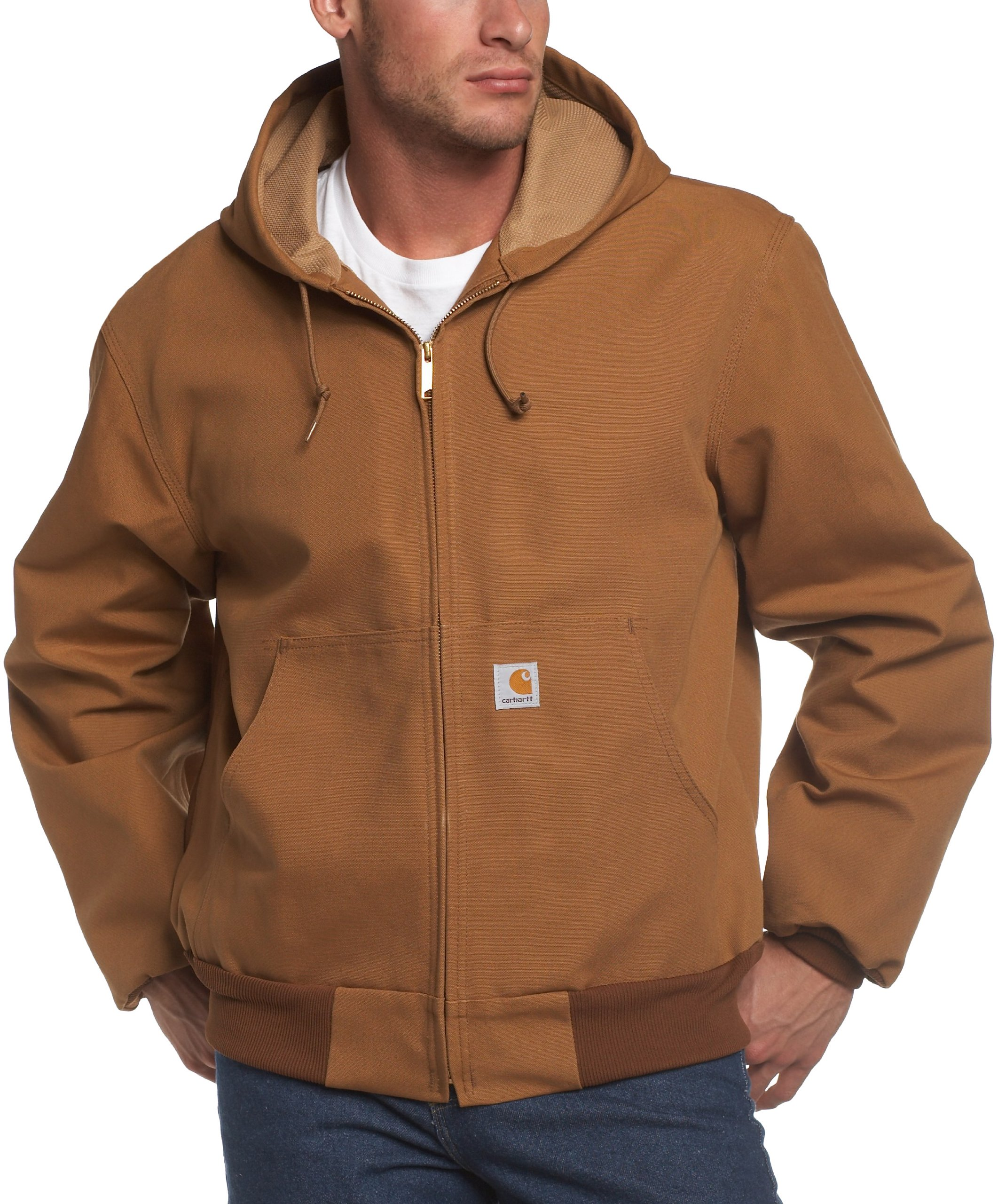 Carhartt Men's Big & Tall Thermal Lined Duck Active Jacket J131,Brown,XXXX-Large Tall