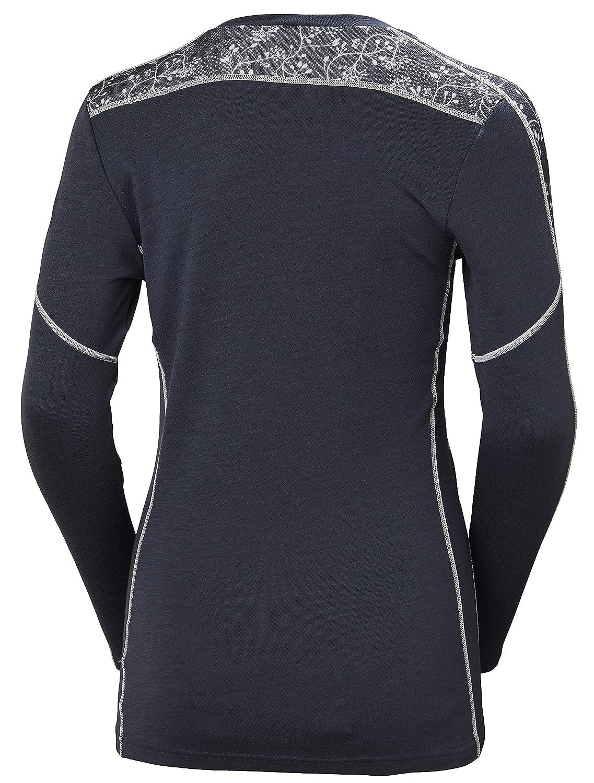 Helly Hansen Hh LIFA Merino Wool Graphic Print 2-Layer Crewneck Thermal Baselayer Top