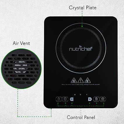 Amazon.com: nutrichef portátil cocina de inducción de 120 V ...
