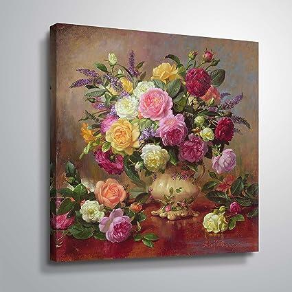 7aad46b200f7 Amazon.com  ArtWall williams-b-007-36x36-w Albert Williams  Roses ...