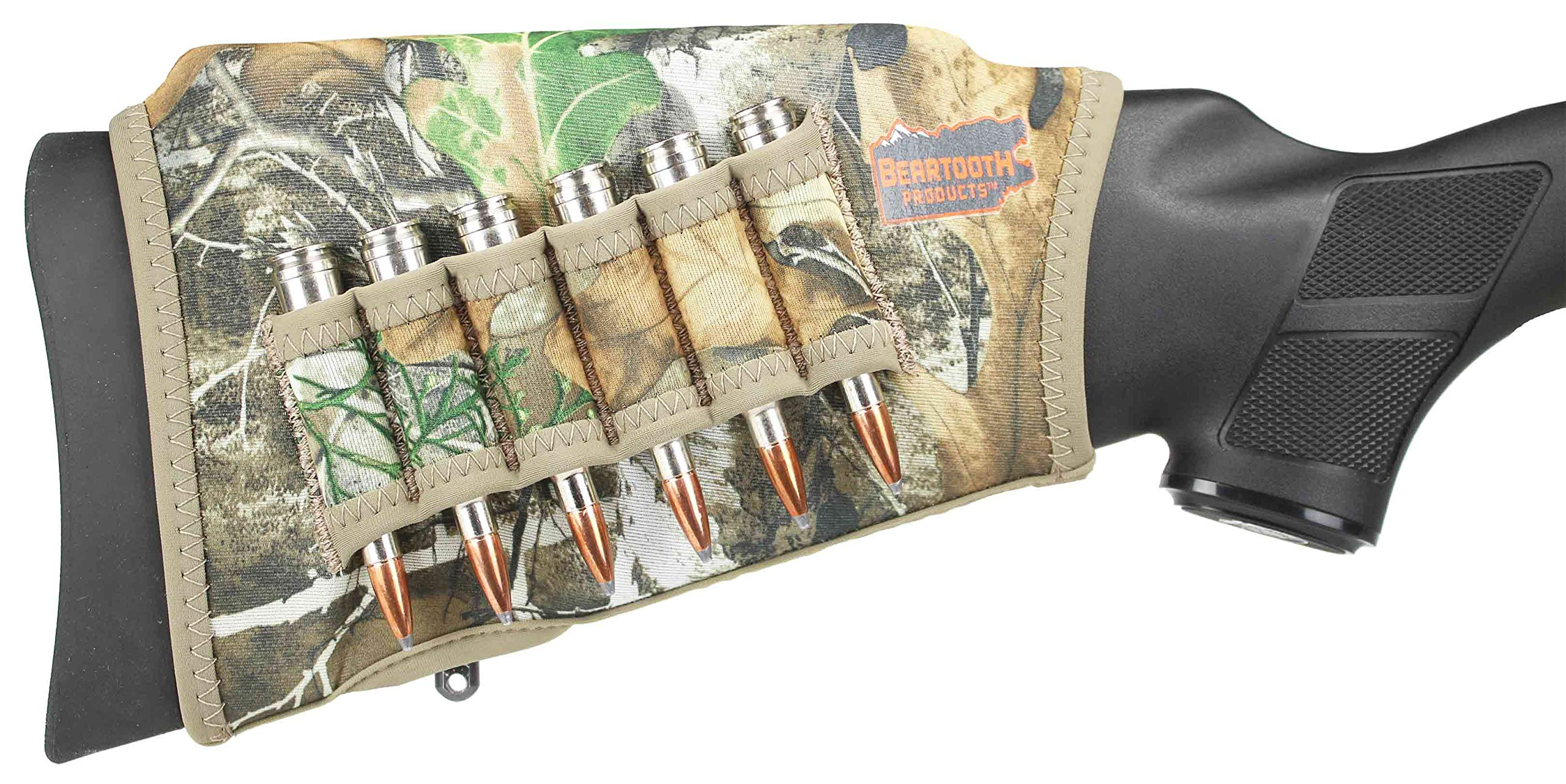 Beartooth Comb Raising Kit 2.0 - Neoprene Gun Stock Sleeve + (5) Hi-Density Foam Inserts - Rifle Model (Realtree Edge) by Beartooth Products