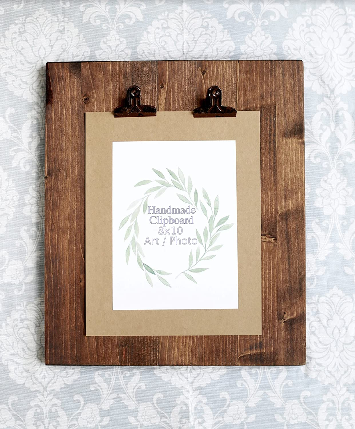 Rustic Wooden Picture Clipboard Display - Picture Frame - Picture Display - Unique Picture Frame - Rustic Wedding Decor - Wedding Sign Display - Sign Holder for Weddings
