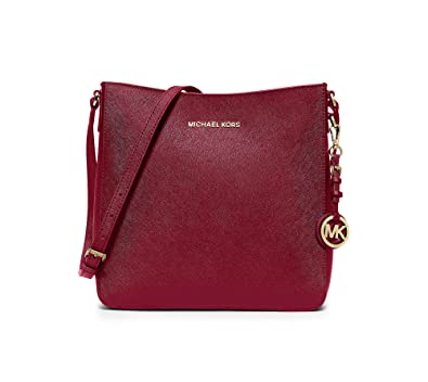 b46471a723c9 Amazon.com: Michael Kors Jet Set Travel Large Messenger Cherry: Shoes