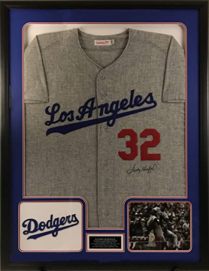 Sandy Koufax Signed Los Angeles Dodgers Jersey - Deluxe Frame at ... 399be4b8a