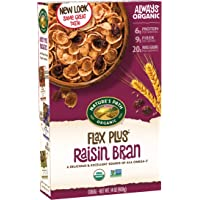 4-Pack Nature's Path Organic Flax Plus Raisin Bran 14oz Cereal